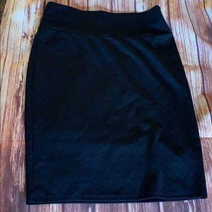 Black LuLaRoe Cassie Skirt